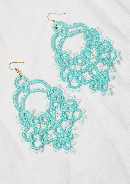 Turquoise tatty earrings