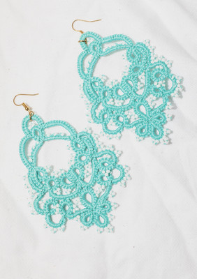 Turquoise tatty earrings