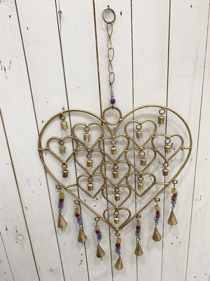 Metal Heart Dream Catcher