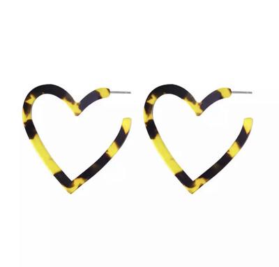 Harriet Heart Hoop Earrings