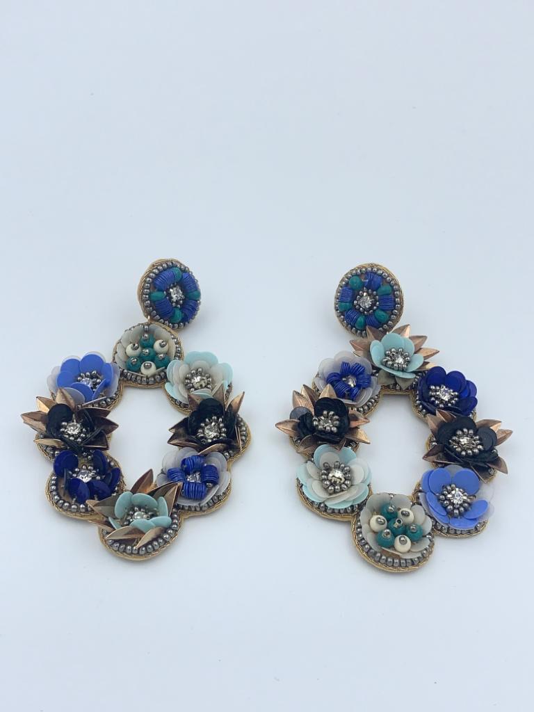 Bette denim earrings