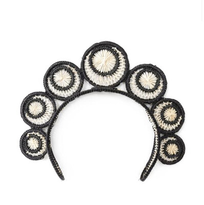 Black and Natural Swirl Headpiece