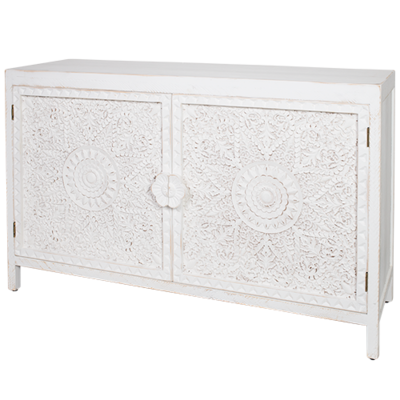 Carved Wood Sideboard