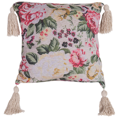 Chenille Cushion with digital print 45cm - cover with cushion insert