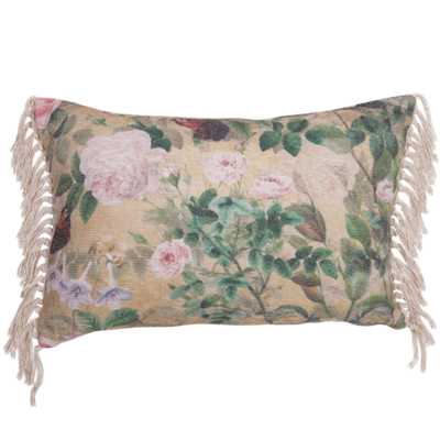 Chenille Cushion with digital print 40x60cm - cushion cover with insert