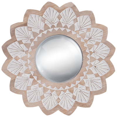 Wood Round Mirror convex Mirror