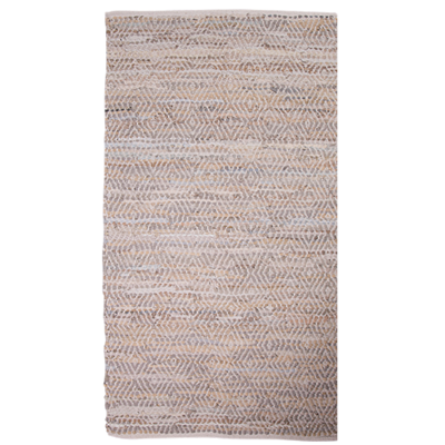 Leather Rug 60x90cm - Beige Diamond