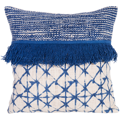 Embellished Cotton Cushion 45cm - cushion cover with insert