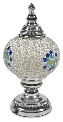 ​Anik Morroccan Table Lamp Small - Blue Multi