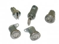 LOCK SET-COMPLETE-DOORS (2), IGNITION, GLOVE BOX AND TRUNK-5 PIECES-56-59 (#E10788)
