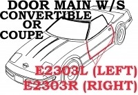 WEATHERSTRIP-DOOR MAIN-COUPE OR CONVERTIBLE-USA-RIGHT-84-89 (#E2303R)
