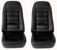 COVER-SEAT-100% LEATHER-EXCEPT PACE CAR-4 PIECES-76-78 (#E6974)