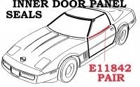 SEALS-INNER DOOR PANEL-PAIR-84-89 (#E11842) 4D1