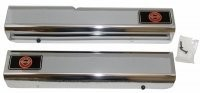 SILL COVER-CHROME-WITH LOGO-PAIR-88-90 (#E1746C) 5C4