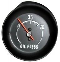 GAUGE-OIL PRESSURE-70 LBS.-WHITE FACE-72-73(#E6287) 1F2