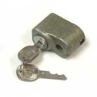 LOCK-SPARE TIRE-WITH B LATE KEYS-LARGE CAP, LARGE HOLE-69-82 (#E10845)