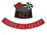 DECAL-AIR CLEANER-427-425 HP-66 (#13005)   5C3