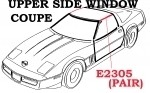 WEATHERSTRIP SET-UPPER SIDE WINDOW-COUPE-USA-PAIR-84-96 E2305