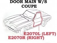 WEATHERSTRIP-DOOR MAIN-COUPE-USA-RIGHT-63-67 (#E2070R) 4A3