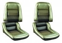 COVER-SEAT-100% LEATHER-MOUNTED ON FOAM-4 INCH BOLSTER-COLLECTOR EDITION-82 (#E700920)