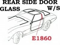 WEATHERSTRIP-REAR SIDE DOOR GLASS-4TH DESIGN-USA-PAIR-69L-77 (#E1860) 4B3