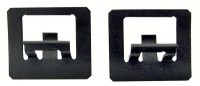 CLIP SET-WINDSHIELD LOWER SIDE MOLDING-CONVERTIBLE-2 PIECES-63-67 (#E10571) 3C4