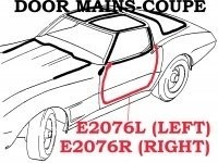 WEATHERSTRIP-DOOR MAIN-COUPE-USA-RIGHT-78-82 (#E2076R) 4B3