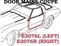 WEATHERSTRIP-DOOR MAIN-COUPE-USA-LEFT-78-82 (#E2076L)  4A3