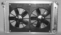 RADIATOR AND FAN COMBINATION-ALUMINUM-AUTO-77-82(#E11635)