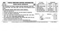 DECAL-EMISSIONS-CODE AR-ALL WITH 270 H.P.-71 (#13609)