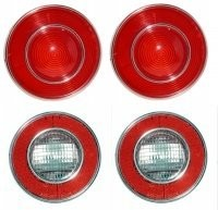 LENS ASSEMBLY-TAIL LAMP AND BACK UP LAMP-USA-4 PIECES-74(#E12370) 4B1