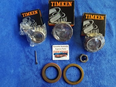 BEARING KIT-REAR WHEEL-PLUS SPINDLE NUT AND COTTER PIN-63-82 (#E11099) 2D3