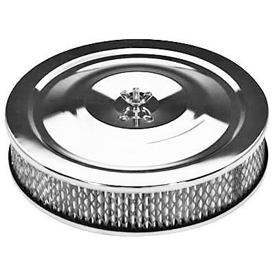 AIR CLEANER CHROME 14in x 3in ALL SML & BIG BLOCK CAEPS2284BX  8-4