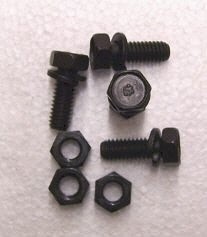 BOLT SET-A ARM BUMPER-LOWER-WITH ANCHOR HEADMARK-WITH WASHERS-8 PIECES-63-82 (#E15240) 2D2