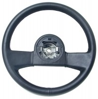 WHEEL-STEERING-BLACK LEATHER-84-89 (#E7795) 1AA2