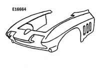 FRONT END ASSEMBLY-HAND LAYUP-65-66 (#E16664)