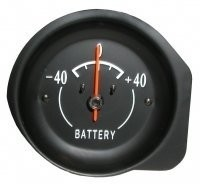 GAUGE-BATTERY-AMMETER-WITH WHITE FACE-72-74 (#E6284)