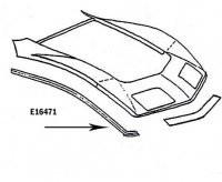 BONDING STRIP-FENDER-FRONT UPPER-PRESS MOLDED-BLACK-RIGHT HAND-68-72(#E16471)