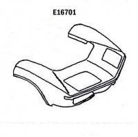 Front Clip, FRONT END-CENTER OF WHEEL WELL FORWARD-HAND LAYUP-70-72 (#E16701)