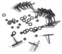 RETAINER SET-BUMPER-STAINLESS STEEL-18 PIECES-FRONT OR REAR-73-82(#E7831)