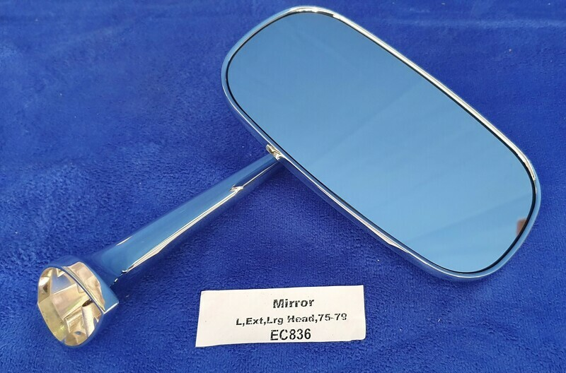 MIRROR-EXTERIOR REAR VIEW-WITH LARGE HEAD-WITH MOUNTING HARDWARE-LEFT-75-79(#EC836)   5A5