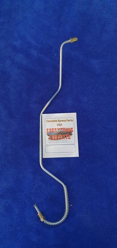 LINE-BRAKE-STEEL TUBING-CALIPER WITH ARMOR-REAR-RIGHT-65-82 (#E2279) 3A5