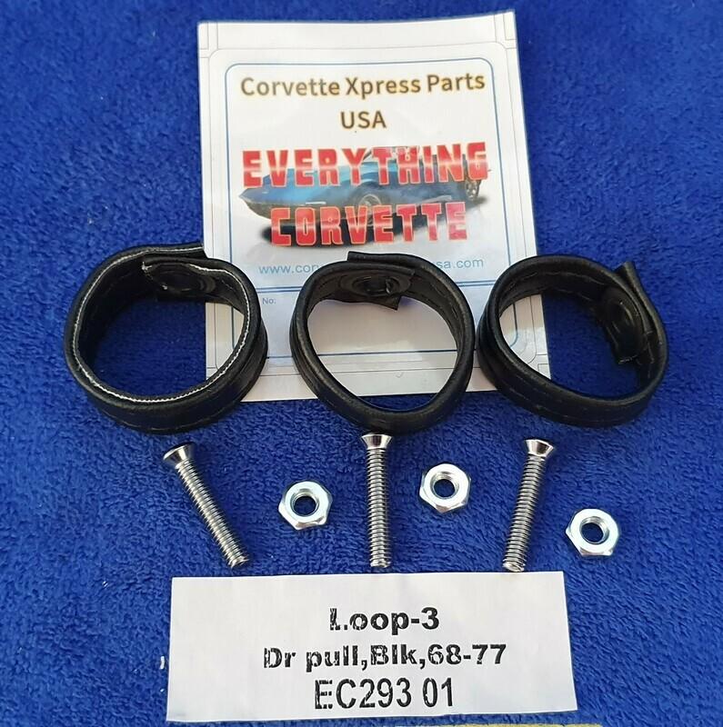 LOOP-PULL-DOOR-REAR COMPARTMENT-9 PIECES-USA-68-77 (#EC293) 01 Black