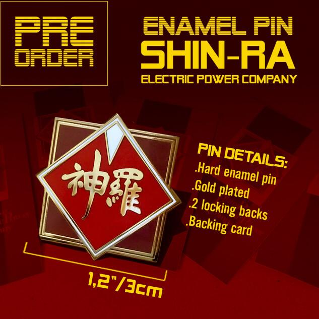 [PRE-ORDER] SHINRA COMPANY ENAMEL PIN (FINAL FANTASY VII)