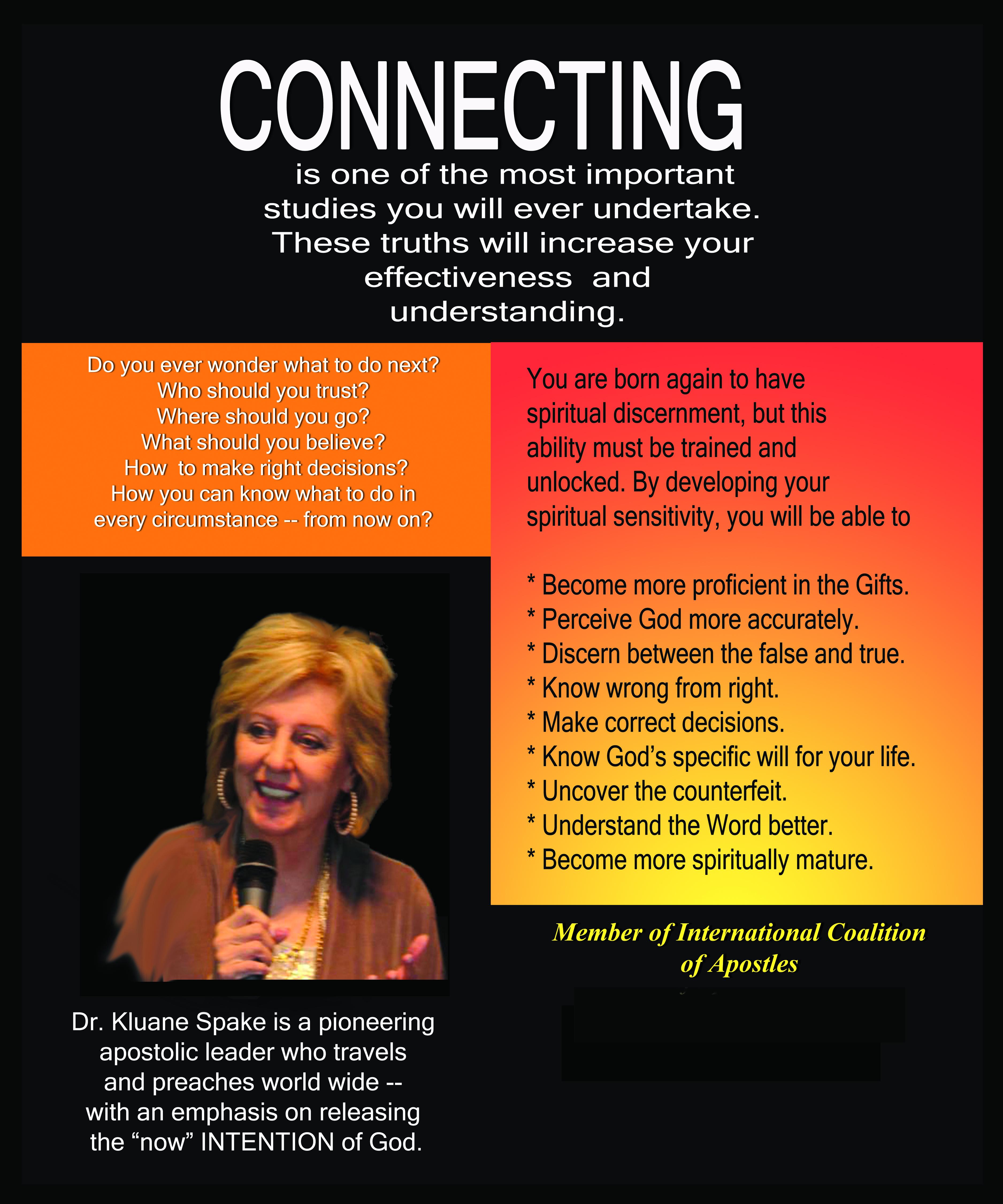 CONNECTING — Apprehending Spiritual Realities!