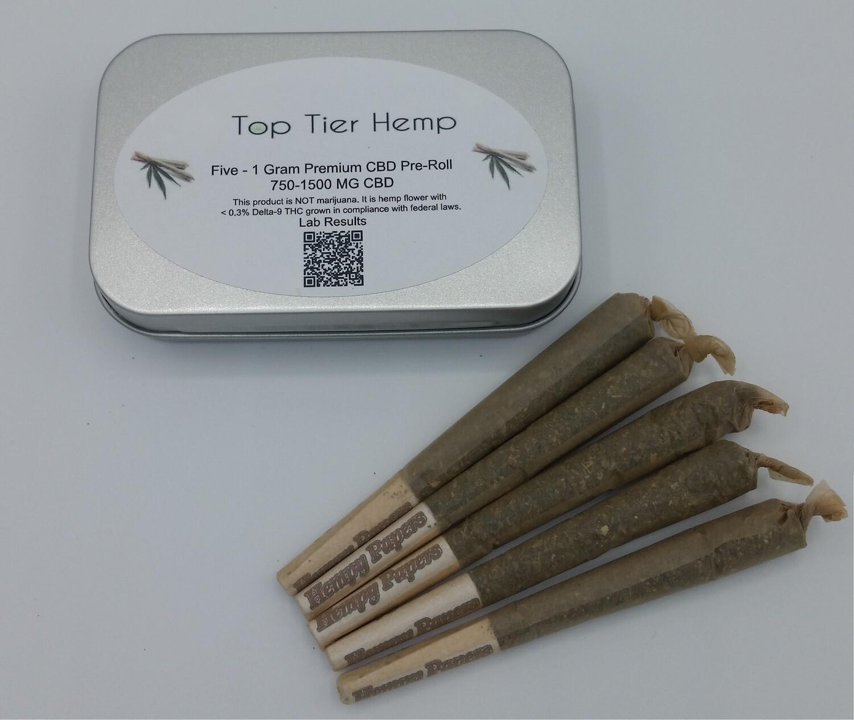 1 Gram Prerolls - 5 Pack (16.42% CBD) + Terpenes