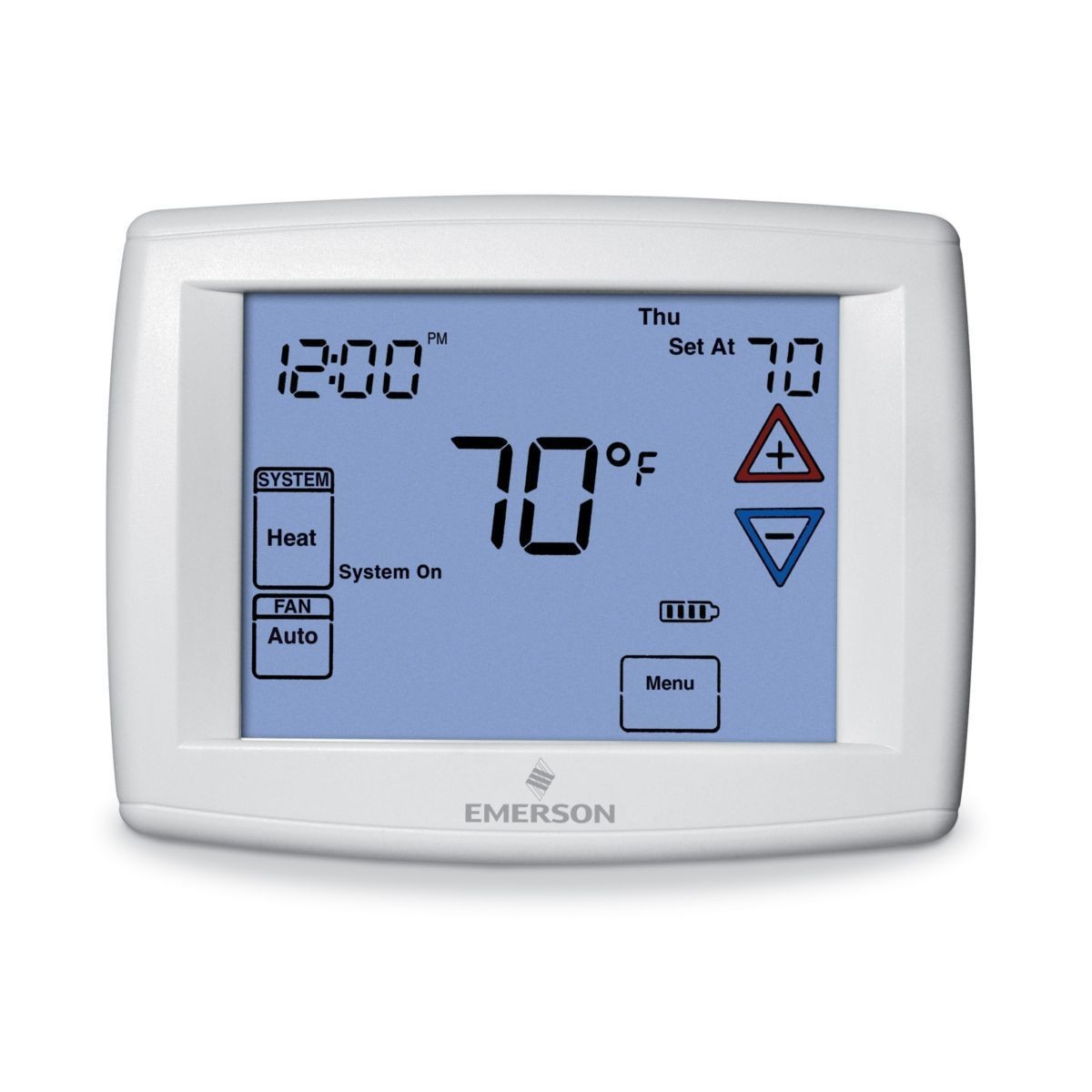 Emerson - Big Blue Universal Thermostat with Automatic Heat/Cool Changeover Option