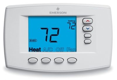 Emerson - Blue Easy Reader Thermostat