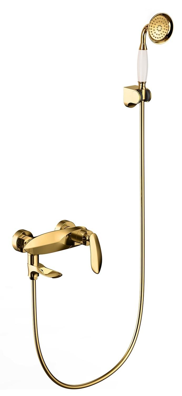 Wall Mounted Bathtub Brass Shower Mixer