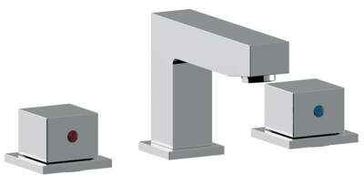 Crown 3 piece Faucet